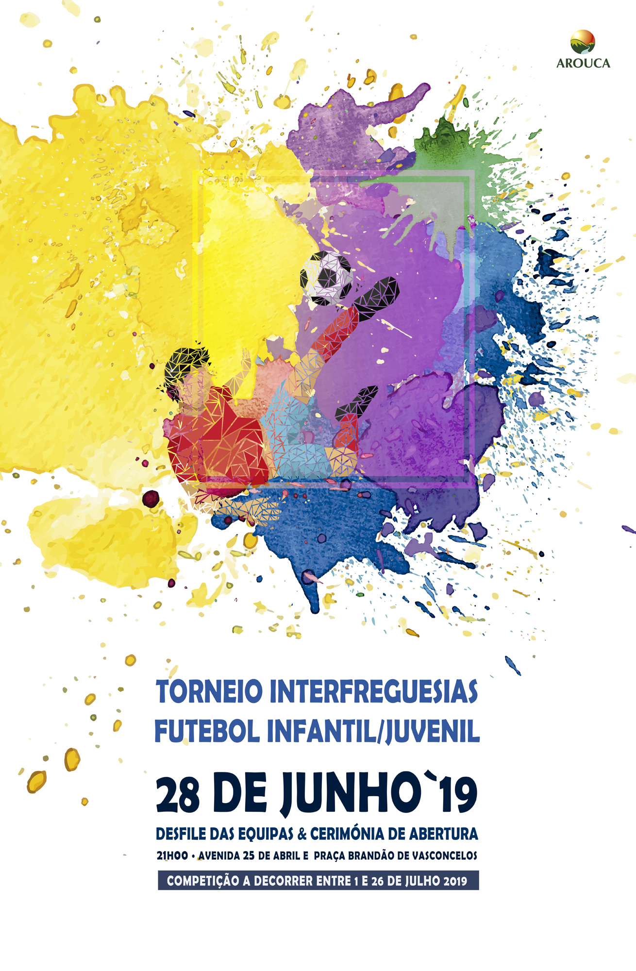Cartaz  Torneio de Futebol Infanto / Juvenil Interfreguesias