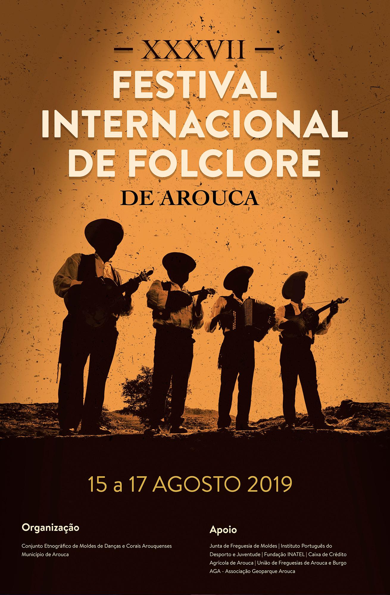 Cartaz  Festival Internacional de Folclore de Arouca